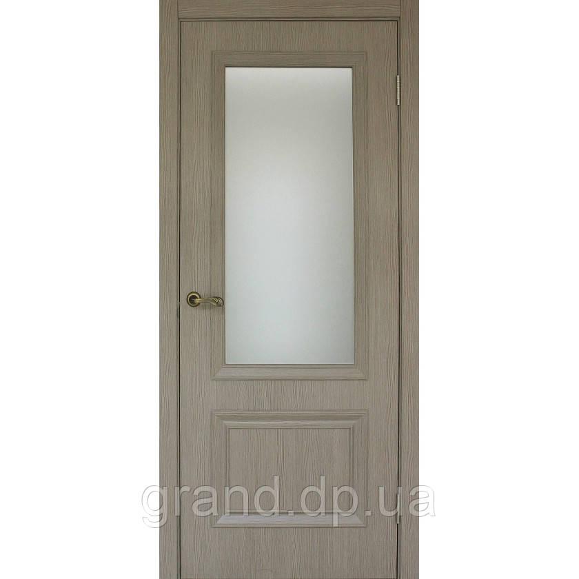 """Дверь межкомнатная остекленная """"Флоренция 1.1 экошпон"""" цвет сосна мадейра"""