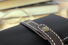 Мужское кожаное портмоне ручной работы VOILE vl-mp1-blk-beg-brn, фото 3