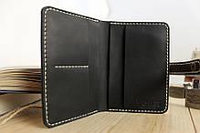 Мужское кожаное портмоне ручной работы VOILE vl-mp1-blk-beg-brn, фото 2