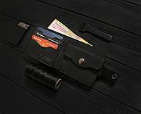 Мужской кожаный кошелек ручной работы VOILE vl-cw1-blk