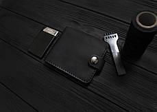 Мужской кожаный кошелек ручной работы VOILE vl-cw1-blk, фото 2