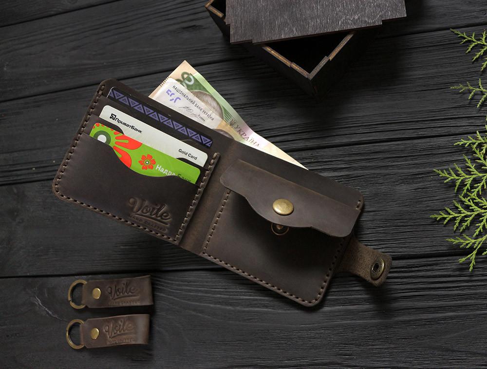1da3c13ed777 Мужской кожаный кошелек ручной работы VOILE vl-cw1-brn коричневый - VOILE в  Луганской