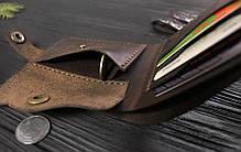 Мужской кожаный кошелек ручной работы VOILE vl-cw1-brn коричневый, фото 2