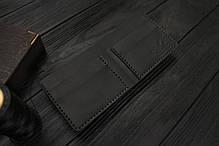 Мужской кожаный бумажник ручной работы VOILE vl-mw1-blk черный, фото 3