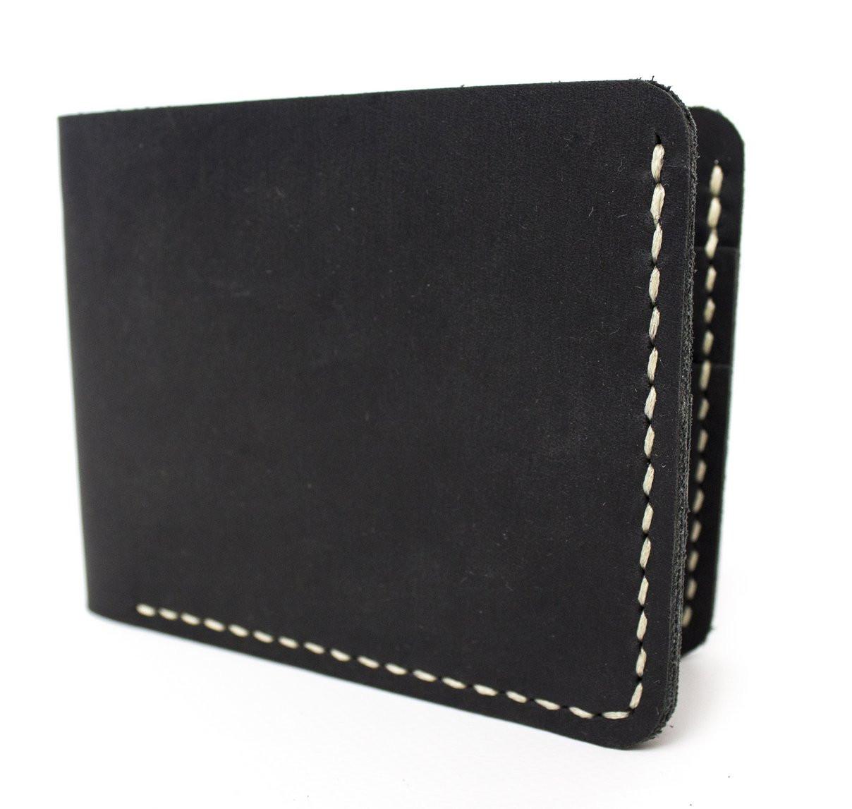 Мужской кожаный бумажник ручной работы VOILE vl-mw1-blk-beg