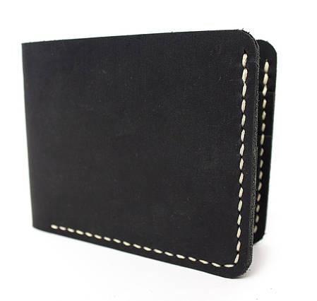 Мужской кожаный бумажник ручной работы VOILE vl-mw1-blk-beg, фото 2