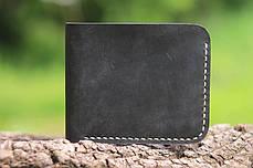 Мужской кожаный бумажник ручной работы VOILE vl-mw2-blk-beg, фото 2