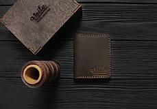 Мужской кожаный бумажник ручной работы VOILE vl-mw3-brn, фото 2