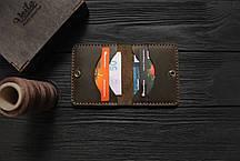 Мужской кожаный бумажник ручной работы VOILE vl-mw3-brn, фото 3