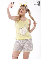Комбинезон с шортами женский для сна Aqua.