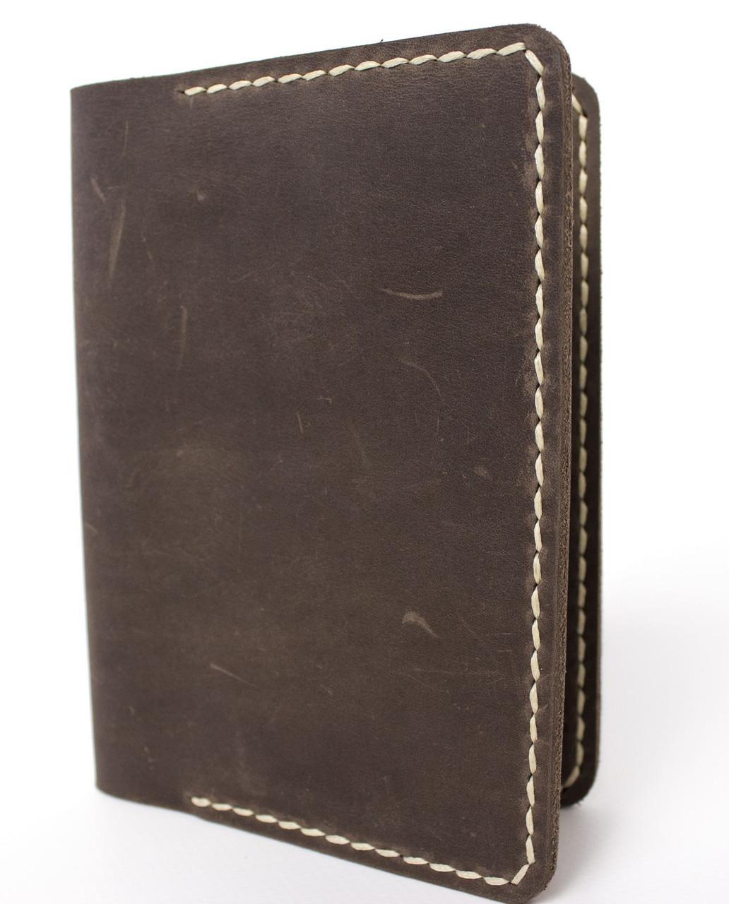 Обложка для паспорта ручной работы VOILE vl-pc1-brn-beg