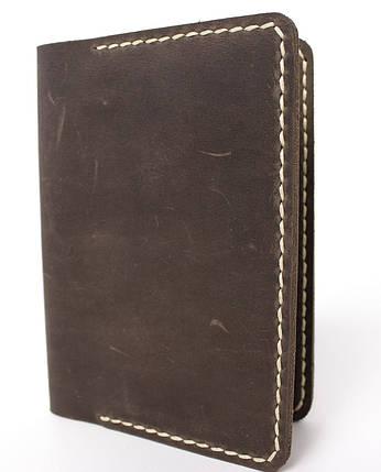 Обложка для паспорта ручной работы VOILE vl-pc1-brn-beg, фото 2