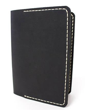 Обложка для паспорта ручной работы VOILE vl-pc1-blk-beg, фото 2
