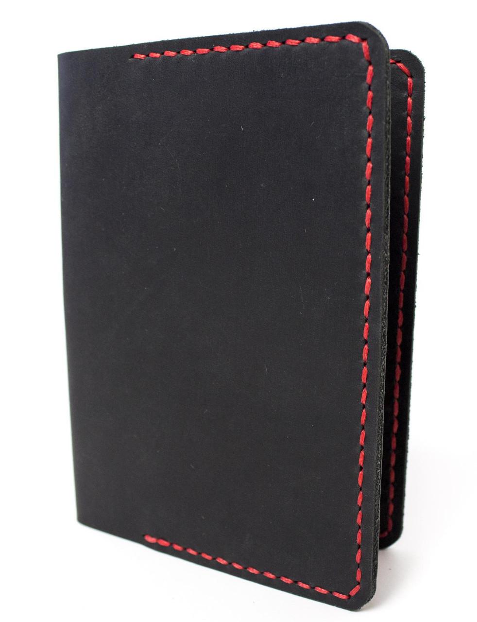 Обложка для паспорта ручной работы VOILE vl-pc1-blk-red