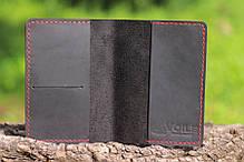 Обложка для паспорта ручной работы VOILE vl-pc1-blk-red, фото 2