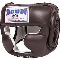 Боксерский шлем BOON SPORT Leather Headgear