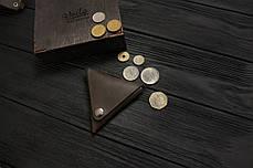 Монетница кожаная ручной работы VOILE vl-cn1-brn коричневая, фото 3