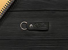 Брелок для ключей черный ручной работы VOILE vl-kch1-blk