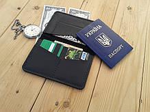 Мужской черный кошелёк обложка ручной работы VOILE vl-cvw2-blk-blk, фото 2