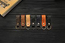 Брелок для ключей коричневый ручной работы VOILE vl-kch1-brn, фото 2