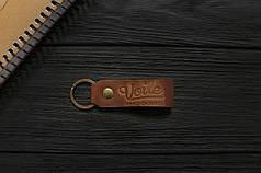 Брелок для ключей светло-коричневый ручной работы VOILE vl-kch1-lbrn