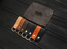 Брелок для ключей светло-коричневый ручной работы VOILE vl-kch1-lbrn, фото 3