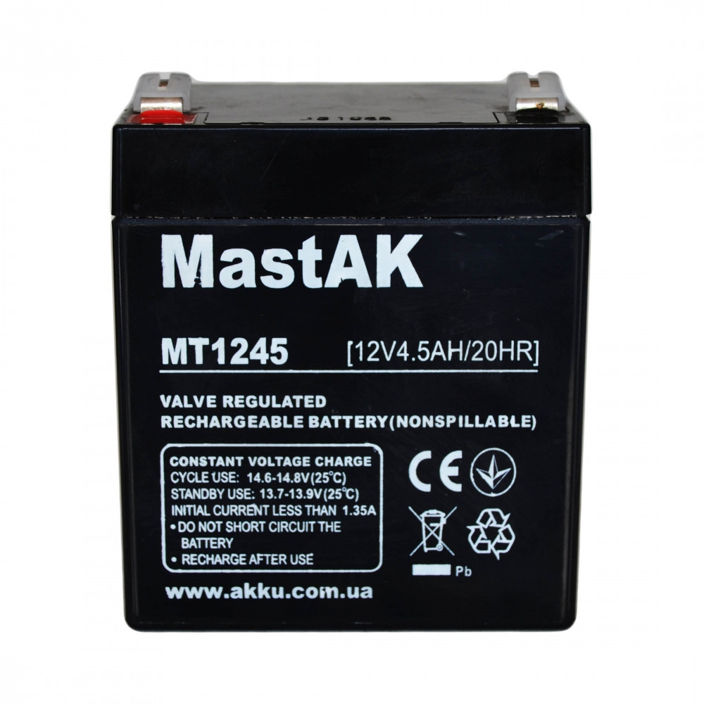 Аккумулятор MastAK MT1245 12V 4.5Ah