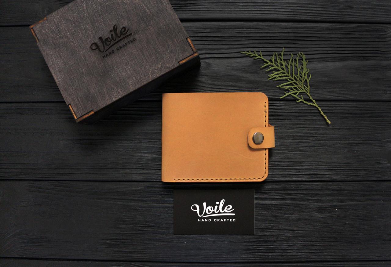 Мужской кожаный кошелек ручной работы VOILE vl-cw1-ryz-tbc