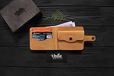 Мужской кожаный кошелек ручной работы VOILE vl-cw1-ryz-tbc, фото 3