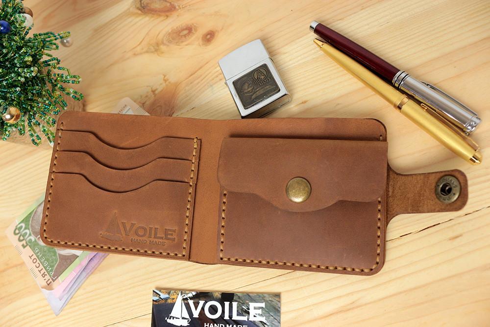 d6b1b5bbc93e Мужской кожаный кошелек ручной работы VOILE vl-cw1-lbrn-tbc - VOILE в