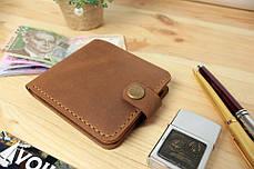 Мужской кожаный кошелек ручной работы VOILE vl-cw1-lbrn-tbc, фото 2