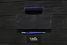 Мужской кожаный бумажник ручной работы VOILE vl-mw4-blu, фото 3
