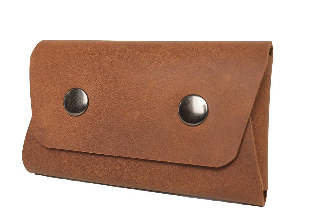 Визитница из кожи ручной работы VOILE vl-bch1-lbrn