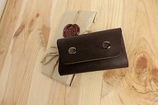 Визитница из кожи ручной работы VOILE vl-bch1-brn, фото 2