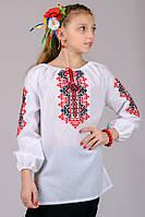 Вышиванка для девочки Украиночка  (рукав 3/4); 128, 134, 140, 146, 152 размер