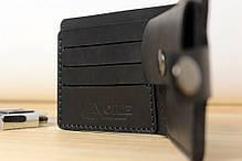 Мужской кожаный кошелек ручной работы VOILE vl-cw3-blk, фото 3