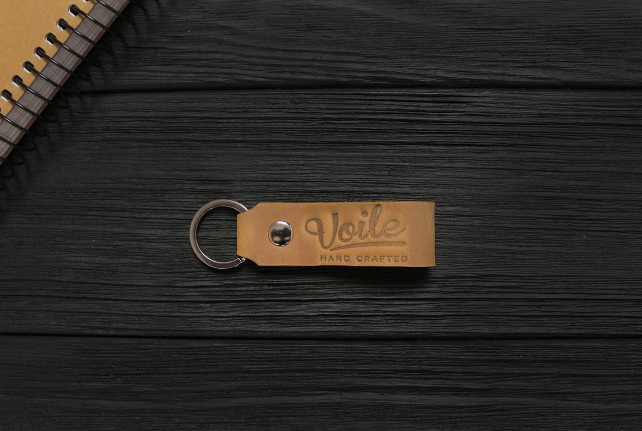 Брелок для ключей рыжий ручной работы VOILE vl-kch1-ryz