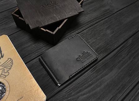 Зажим для купюр ручной работы VOILE vl-mc6-kblk черный, фото 2