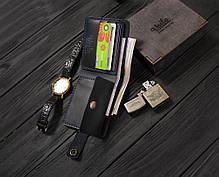 Мужской кожаный кошелек ручной работы VOILE vl-cw3-blu синий, фото 2