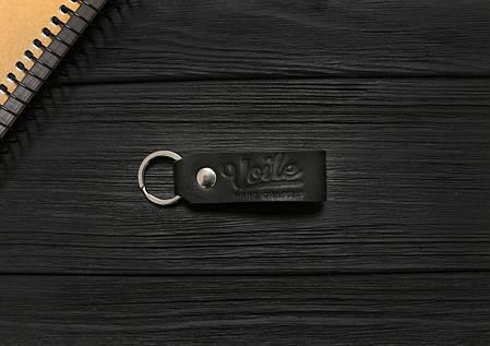 Брелок для ключей черный ручной работы VOILE vl-kch1-kblk, фото 2