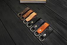Брелок для ключей черный ручной работы VOILE vl-kch1-kblk, фото 3