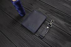 Мужской кожаный бумажник ручной работы VOILE vl-mw3-blu, фото 2
