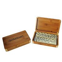 Домино подарочное в бамбуковой коробке, фото 1