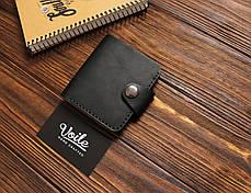 Мужской кожаный бумажник ручной работы VOILE vl-mw8-blk, фото 3