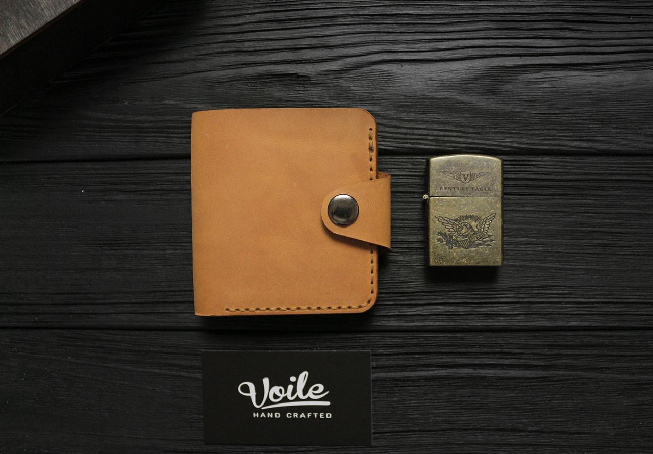 Мужской кожаный бумажник ручной работы VOILE vl-mw8-ryz-tbc