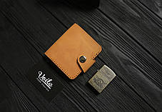 Мужской кожаный бумажник ручной работы VOILE vl-mw8-ryz-tbc, фото 2