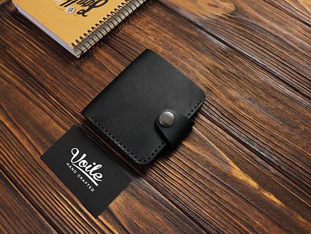 Мужской кожаный бумажник ручной работы VOILE vl-mw8-kblk, фото 2