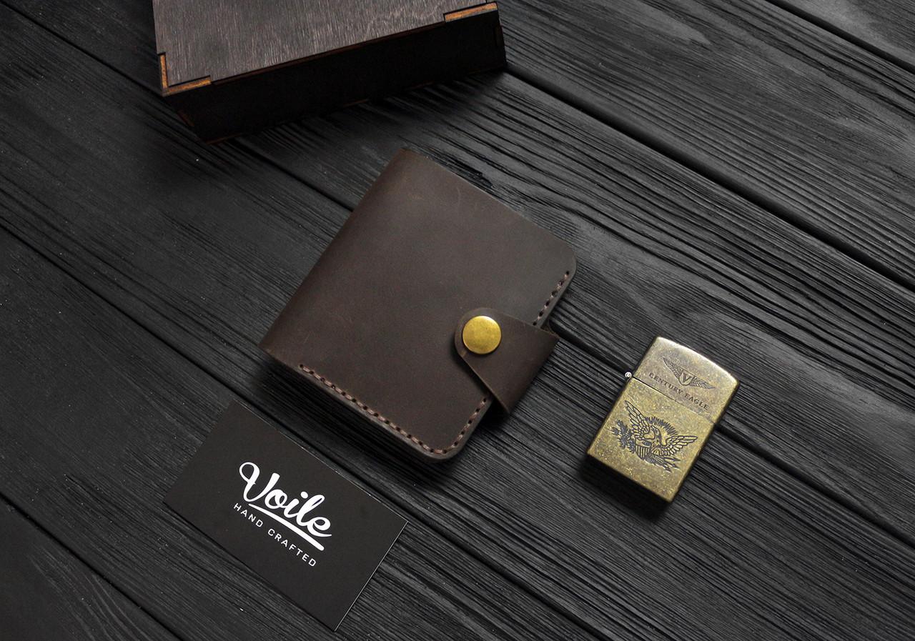 Мужской кожаный бумажник ручной работы VOILE vl-mw8-brn
