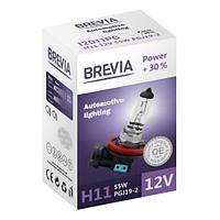 Галогеновая лампа Brevia H11 Power +30% 12v/55w