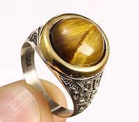Кольцо мужское серебро 925, топаз 21р.